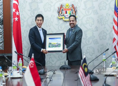 Kunjungan Hormat dari H.E Tan Chuan- Jin, Speaker of the Parliament of Singapore