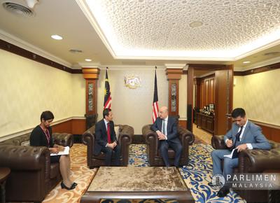 Kunjungan Hormat H.E. Mr. Ravshan Usmanov, D..s Yang di-Pertua Dewan Rakyat (4 Ogos 2020)