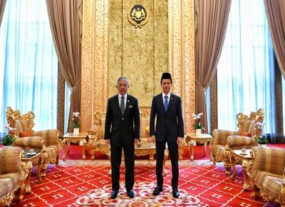 Majlis menghadap KDYMM SPBYDPA oleh YB YPDR di Istana Negara pada 29 Julai 2020