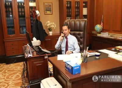 Sesi panggilan telefon tahniah oleh H.E. Pro..d National Assembly of Turkey (4 Ogos 2020)